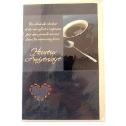 Carte postale neuve avec enveloppe joyeux anniversaire ( lot 49.14)