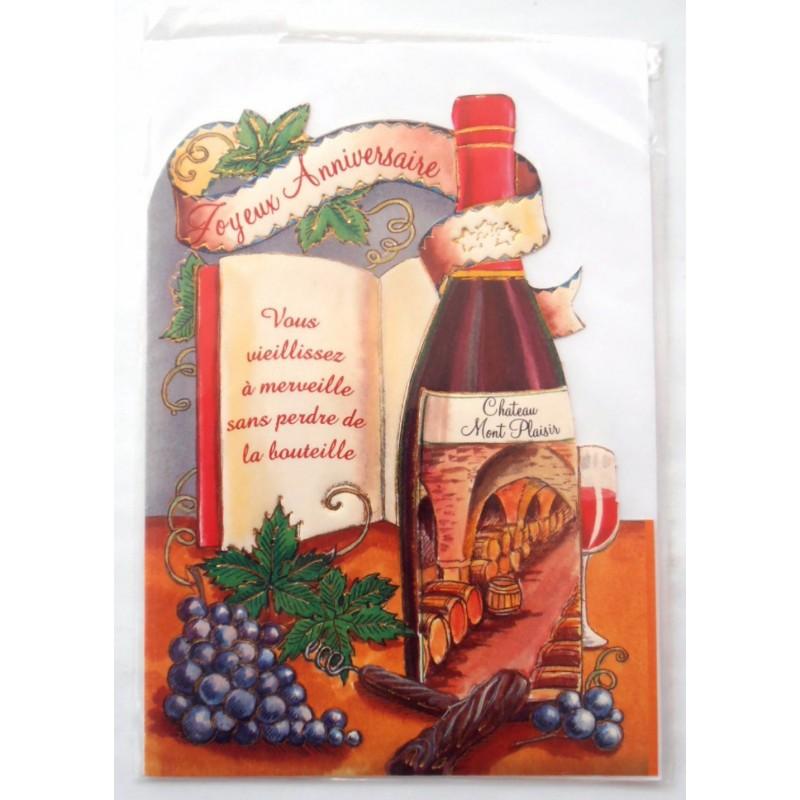 Carte postale neuve avec enveloppe joyeux anniversaire (49.16) - Amzalan.com