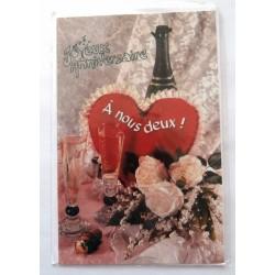 Carte postale neuve avec enveloppe joyeux anniversaire ( lot 50.06)