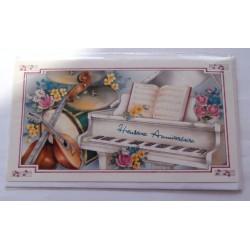 Carte postale neuve avec enveloppe joyeux anniversaire ( lot 52.07)
