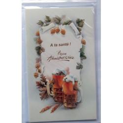 Carte postale neuve avec enveloppe joyeux anniversaire ( lot 54)