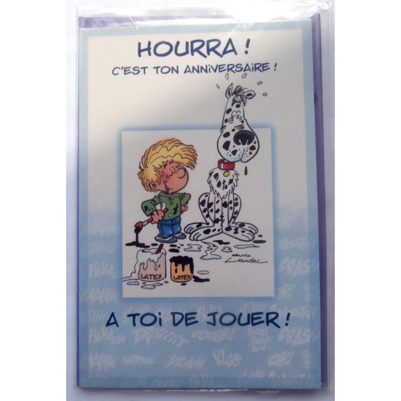 Carte Postale Neuve Avec Enveloppe Joyeux Anniversaire Cedric