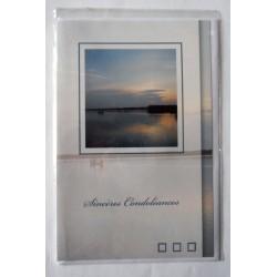 Carte postale double neuve avec enveloppe sincères condoléances neuve