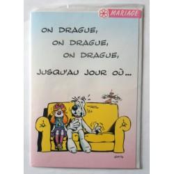 Carte postale neuve avec enveloppe félicitations MARIAGE gai luron (06.05)