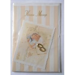 Carte postale neuve avec enveloppe félicitations MARIAGE (07.03)