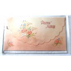 Carte postale neuve avec enveloppe félicitations MARIAGE (07.06)
