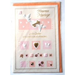 Carte postale neuve avec enveloppe félicitations MARIAGE (07.08)