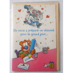 Carte postale neuve avec enveloppe félicitations MARIAGE (07.09)
