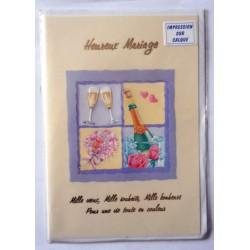 Carte postale neuve avec enveloppe félicitations MARIAGE (08.02)