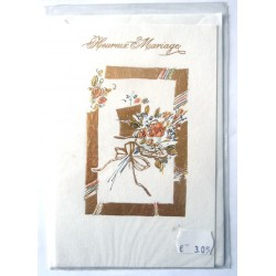 Carte postale neuve avec enveloppe félicitations MARIAGE (08.03)