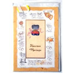 Carte postale neuve avec enveloppe félicitations MARIAGE (08.05)