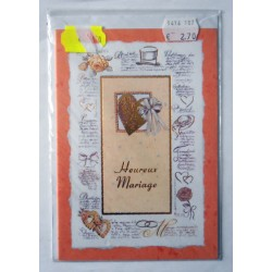 Carte postale neuve avec enveloppe félicitations MARIAGE (08.07)