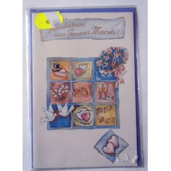 Carte postale neuve avec enveloppe félicitations MARIAGE (08.08)
