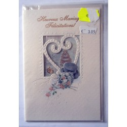 Carte postale neuve avec enveloppe félicitations MARIAGE (09.02)