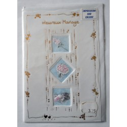 Carte postale neuve avec enveloppe félicitations MARIAGE (09.05)