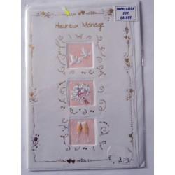 Carte postale neuve avec enveloppe félicitations MARIAGE (lot 09.06)
