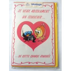 Carte postale neuve avec enveloppe félicitations MARIAGE (lot 09.08)