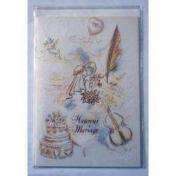 Carte postale neuve avec enveloppe félicitations MARIAGE (lot 10.01)