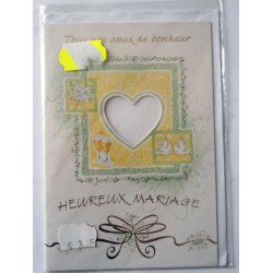 Carte postale neuve avec enveloppe félicitations MARIAGE (lot 10.03)