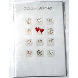 Carte postale neuve avec enveloppe félicitations MARIAGE (lot 11.03)