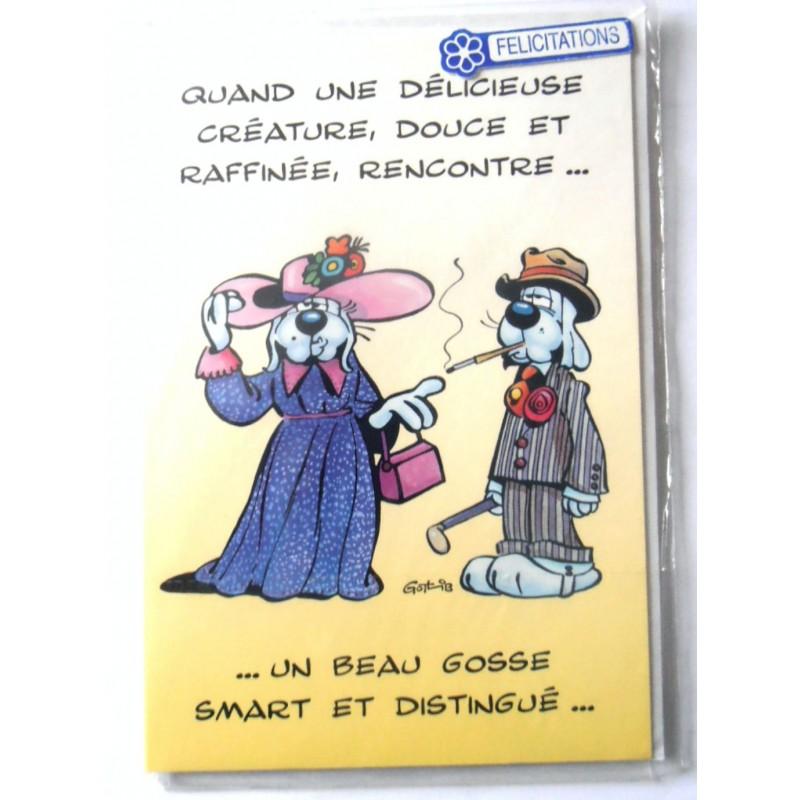 Carte Postale Neuve Avec Enveloppe Félicitations Anniversaire Mariage Gai Luron 1208 Amzalancom