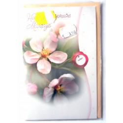 Carte postale double avec enveloppe félicitations anniversaire MARIAGE disque Multi choix floral neuve