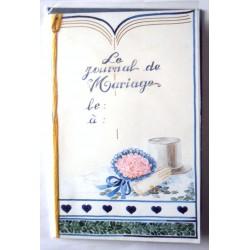 Carte postale double avec enveloppe journal mariage invitation neuve