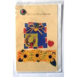 Carte postale neuve + enveloppe DIVERS bonne fête maman (lot 27.04)