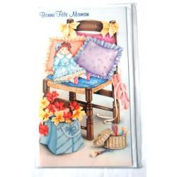 Carte postale neuve + enveloppe DIVERS bonne fête maman (lot 28.03)