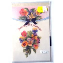 Carte postale neuve + enveloppe DIVERS bonne fête maman (lot 28.04)