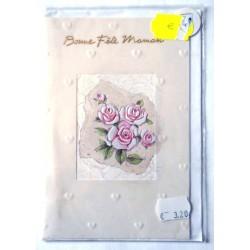 Carte postale neuve + enveloppe DIVERS bonne fête maman (lot 27.08)