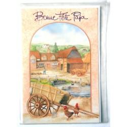 Carte postale neuve avec enveloppe fête des pères (lot 13.09)
