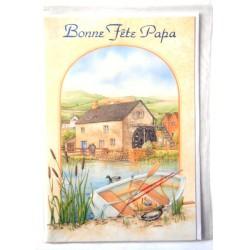 Carte postale neuve avec enveloppe fête des pères (lot 13.10)
