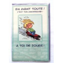 Carte postale neuve avec enveloppe joyeux anniversaire ( lot 56.11)