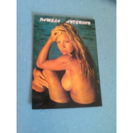 Carte Postale de Star - People - Pamela Anderson assise.