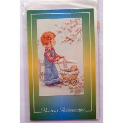 Carte postale neuve avec enveloppe joyeux anniversaire ( lot 57.09)
