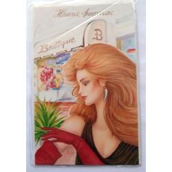 Carte postale neuve avec enveloppe joyeux anniversaire ( lot 57.10)