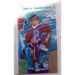 Carte postale neuve avec enveloppe joyeux anniversaire ( lot 57.12)