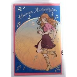 Carte postale neuve avec enveloppe joyeux anniversaire ( lot 57.13)