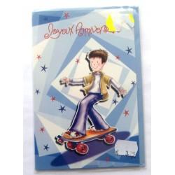 Carte postale neuve avec enveloppe joyeux anniversaire ( lot 57.15)