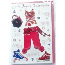 Carte postale neuve avec enveloppe joyeux anniversaire ( lot 58.01)
