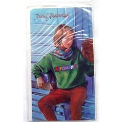 Carte postale neuve avec enveloppe joyeux anniversaire ( lot 58.04)