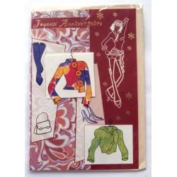 Carte postale neuve avec enveloppe joyeux anniversaire ( lot 58.05)