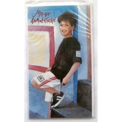 Carte postale neuve avec enveloppe joyeux anniversaire ( lot 58.07)