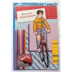Carte postale neuve avec enveloppe joyeux anniversaire ( lot 58.10)