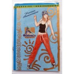 Carte postale neuve avec enveloppe joyeux anniversaire ( lot 58.11)