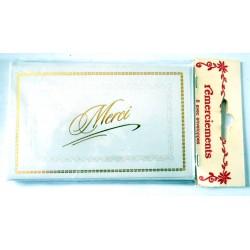 Lot de 6 faire parts avec enveloppe remerciement merci anniversaire mariage condoléances (lot 01.05)
