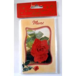 Lot de 6 faire parts avec enveloppe remerciement merci anniversaire mariage condoléances (lot 01.06)