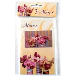 Lot de 3 faire parts avec enveloppe remerciement merci anniversaire mariage condoléances (lot 04.04)