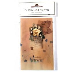 Lot de 5 faire parts avec enveloppe remerciement merci anniversaire mariage condoléances (lot 05.01)